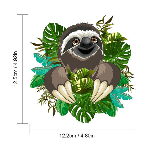 Image of Funny Sloth Face Sticker - Sloth Gift shop