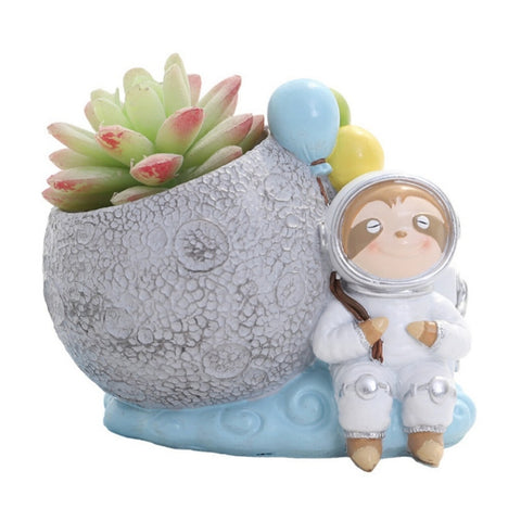 Space Sloth Flower Pot - Sloth Gift shop