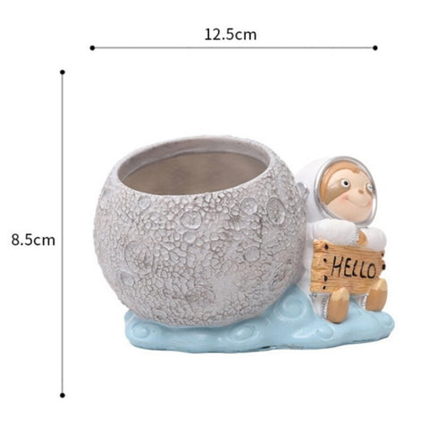 Hello Sloth Flower Pot