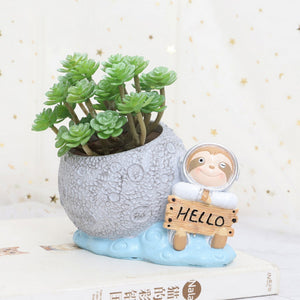 Hello Sloth Flower Pot - Sloth Gift shop