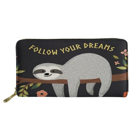 Image of Dreamer Sloth Purse / Wallet - Sloth Gift shop