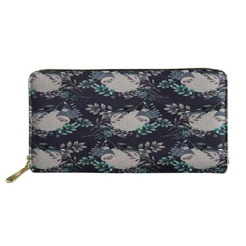 Image of Greyish Sloth Purse / Wallet - Sloth Gift shop