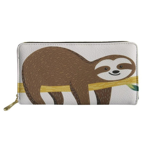 A Face of Lazy Purse / Wallet - Sloth Gift shop