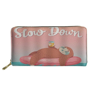 Slow Sloth Down Purse / Wallet - Sloth Gift shop