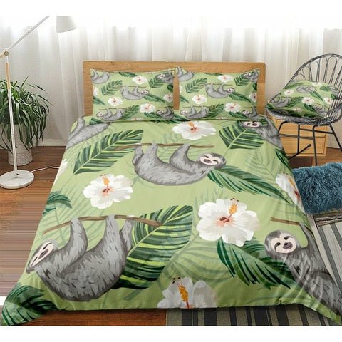 Flower Sloth Bedding Set