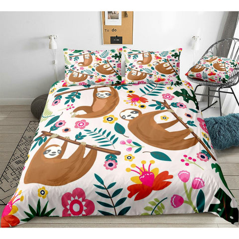 Lovely Sloth Bedding Set
