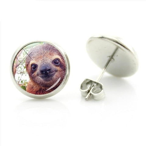 Close Up Sloth Earrings - Sloth Gift shop