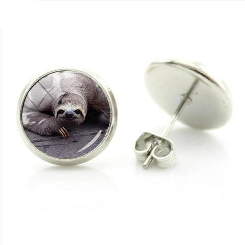 Greyish Sloth Earrings - Sloth Gift shop