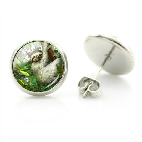 Jungle Sloth Earrings - Sloth Gift shop