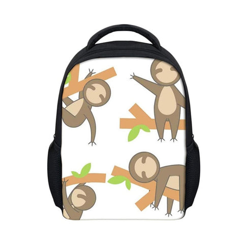 Cartoon Sloth Travel Backpack