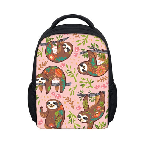 Set of Sloth Travel Backpack