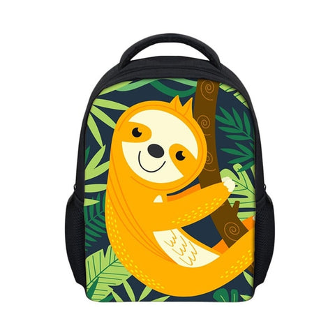 Orange Sloth Travel Backpack