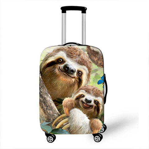 Mother and Baby Sloth Luggage Cover