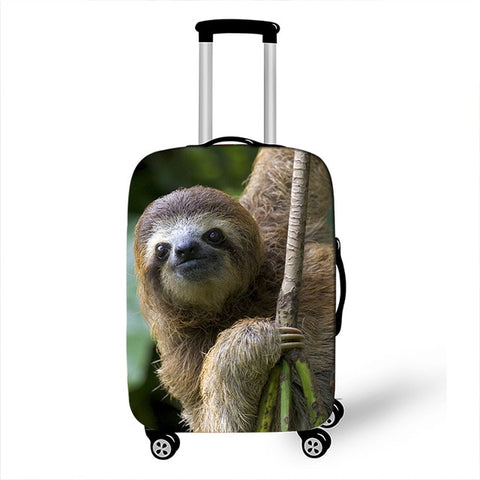 Smiling Sloth Luggage Cover