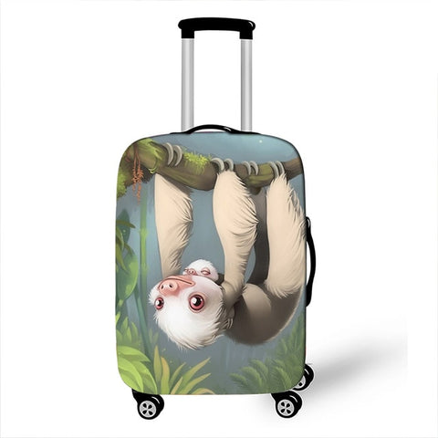 Pastel Sloth Luggage Cover