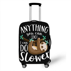 'I can do slower' Sloth Luggage and Suitcase Cover - Sloth Gift shop