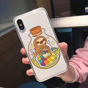 Sloth in the Bottle iPhone Case