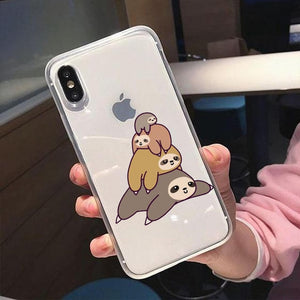 Small to Big Sloth iPhone Case