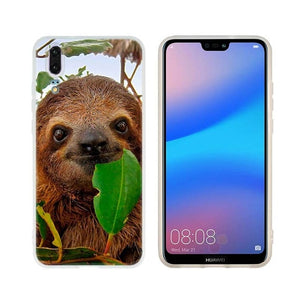 Eating Leaves Huawei Case - Sloth Gift shop
