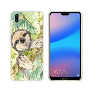 Light Green Sloth Huawei Case - Sloth Gift shop