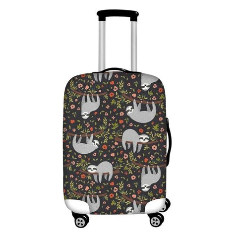 Flowers Sloth Luggage and Suitcase Cover - Sloth Gift shop