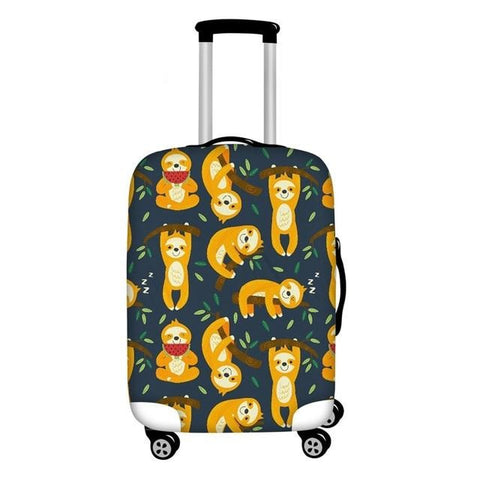 Yellow Sloth Luggage Cover
