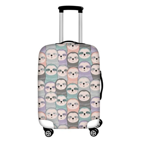 Head of Pastel Luggage Cover