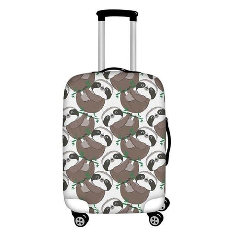 Half Sloth Luggage Cover