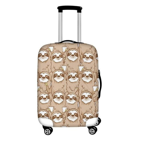 Face of Sloths Luggage Cover