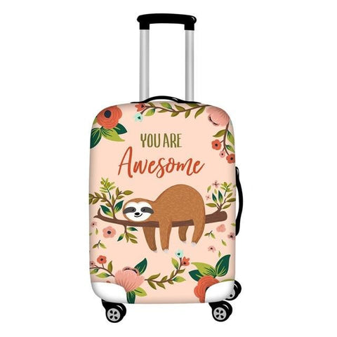 Awesome Sloth Luggage and Suitcase Cover