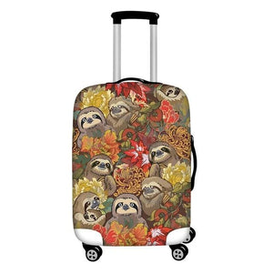 Sloth Fam Luggage and Suitcase Cover - Sloth Gift shop
