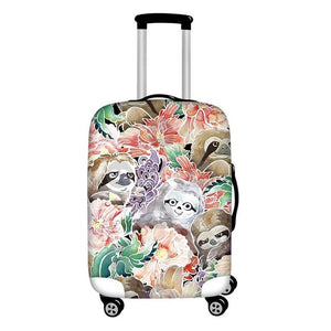 Pastel Lover Luggage and Suitcase Cover - Sloth Gift shop