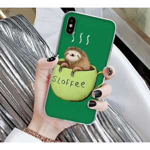 Sloffee Time iPhone Case - Sloth Gift shop