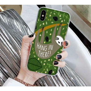 Hang in There iPhone Case - Sloth Gift shop