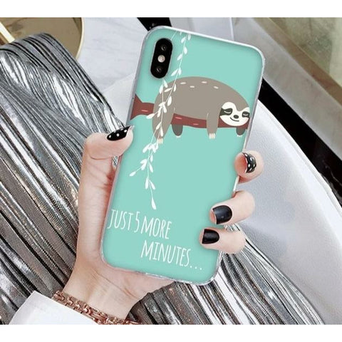 5 More Minutes iPhone Case - Sloth Gift shop