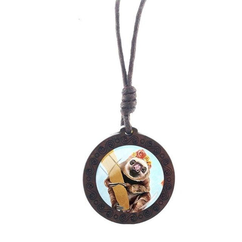 Gayish Sloth Necklace - Sloth Gift shop