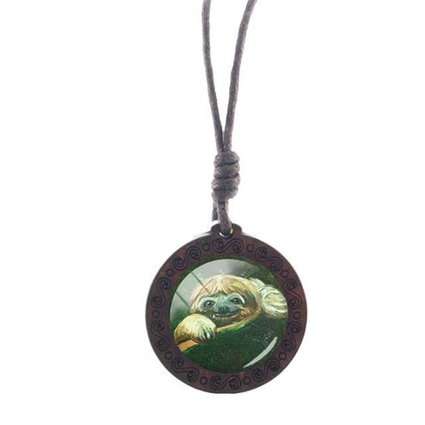 Image of Green Sloth Necklace - Sloth Gift shop