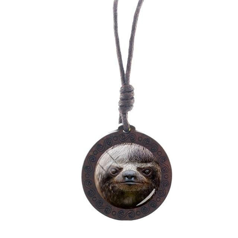 Image of Fierce Face Necklace - Sloth Gift shop