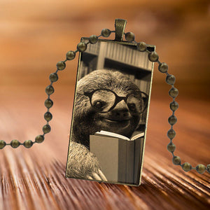 BookSloth Necklace - Sloth Gift shop