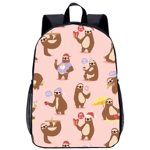 Holiday Sloth Travel Backpack