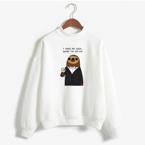 No Idea Sloth Sweatshirt - Sloth Gift shop