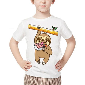 Sushi Lover T-shirt - Sloth Gift shop