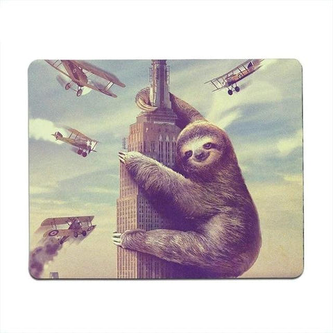 Top of Building Sloth Mouse Pad