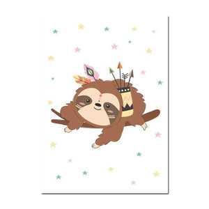 Cupid Sloth Poster - Sloth Gift shop