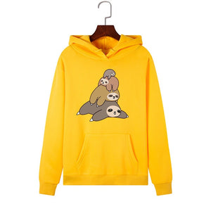 Sloth Pile Up Fam Hoodie - Sloth Gift shop
