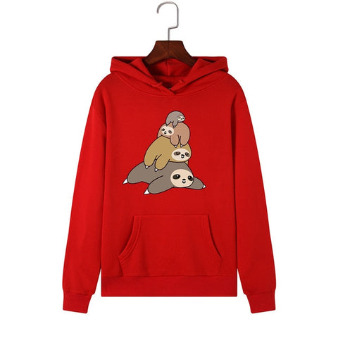 Image of Sloth Pile Up Fam Hoodie - Sloth Gift shop
