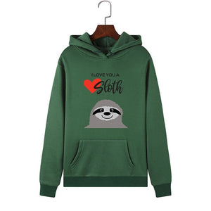 I Love You Sloth Hoodie - Sloth Gift shop