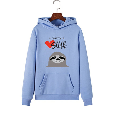 Image of I Love You Sloth Hoodie - Sloth Gift shop