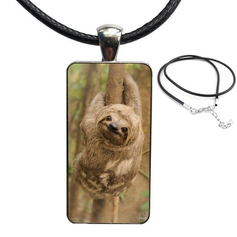 Brown Sloth Color Necklace - Sloth Gift shop