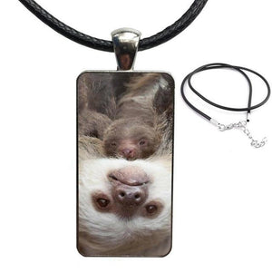 Two Heads Upside Down Necklace - Sloth Gift shop